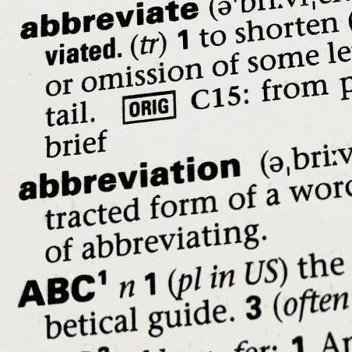 Model Abbreviations
