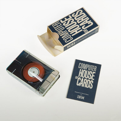 The box of the IBM: Computer House Of Cards and shrink wrapped cards