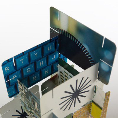The Computer House Of Cards with close up photography of internal components