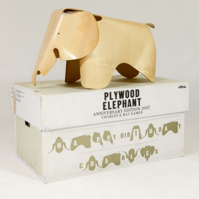 2007 Eames Plywood Elephant in maple with original box made by Vitra
