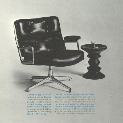 Early 1961 Herman Miller catalog feature for the 675 Time Life Lounger