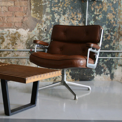 Tan Leather example of the Time Life Lounger