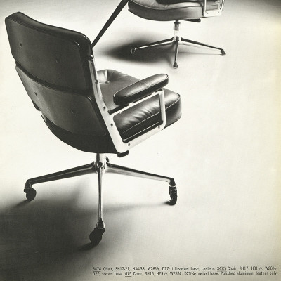 1964 Catalog Image with dimensions of the Time Life Desk Chair