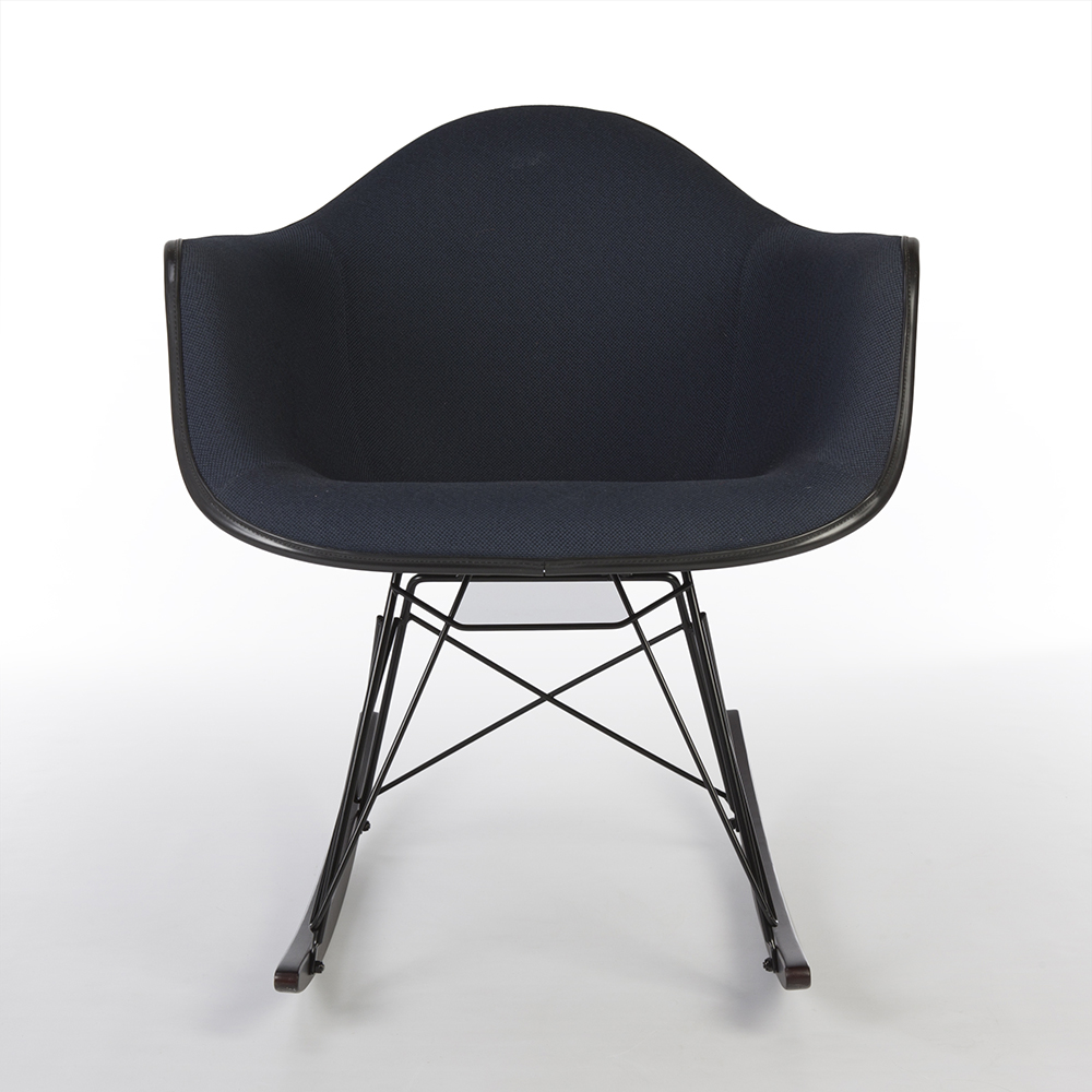 Navy Blue 1960s Herman Miller Eames RAR Rocking Arm Chairs in very good condition