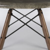 Elephant Hide Grey 1950s Herman Miller Eames DSW Dowel Side Chairs in very good condition thumbnail