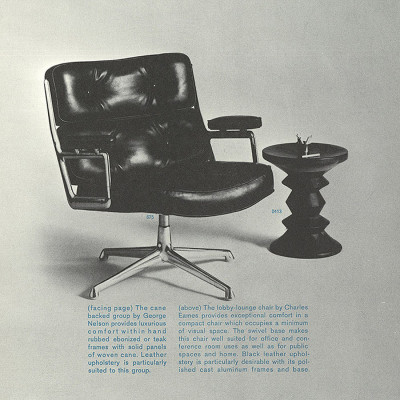 1961 Herman Miller catalog page featuring the Time Life Series including stool 0413 (model C)