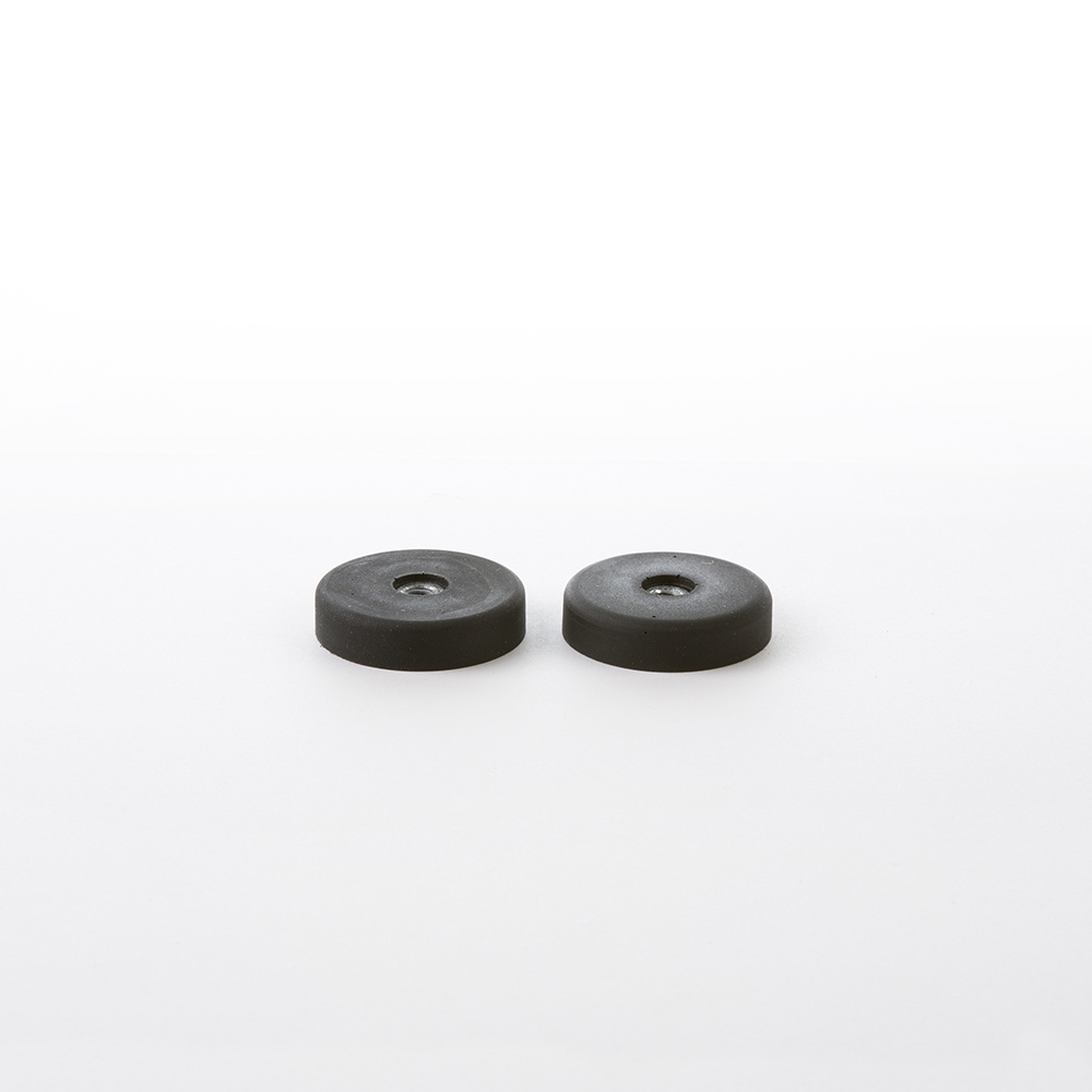 Shell Chair 2 x (Pair) Eames Side Or Arm Replacement Black Rubber Shock Mounts