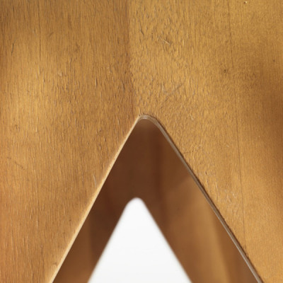 The center section of the point between the Nested Stool legs