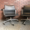 Black 2011 Herman Miller Eames Alu Group Low Back Side Chair Seating in very good condition thumbnail