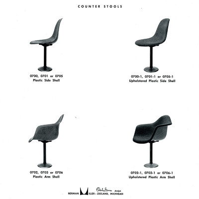 1961 brochure for the MBP (700 series) counter stools in various guises.