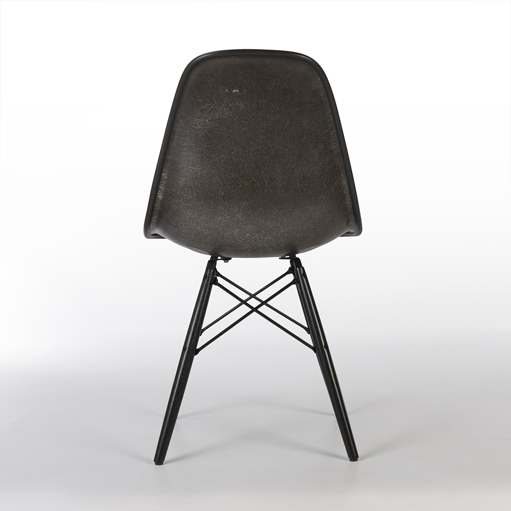 Grey 1980s Herman Miller Eames DSW Dowel Side Chairs in very good condition