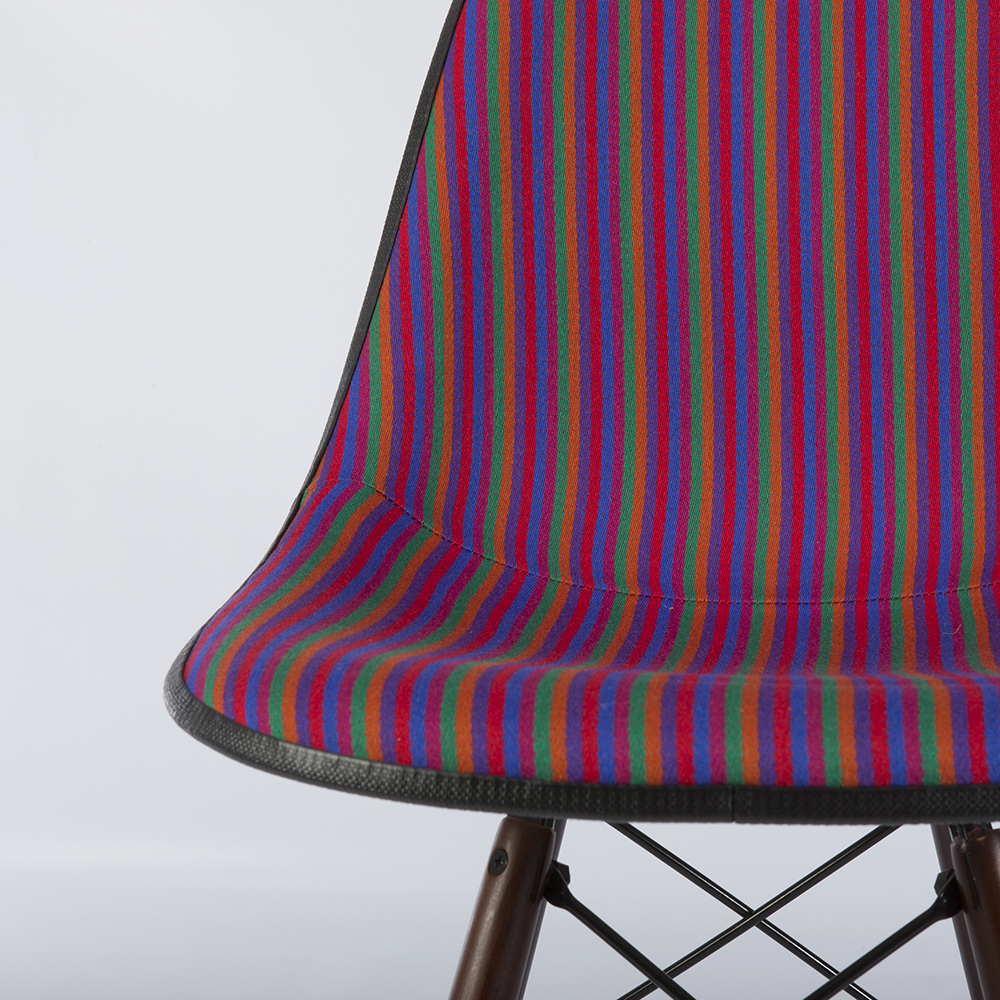 Multi-Color 1980s Herman Miller Eames DSW Dowel Side Chairs in very good condition
