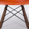 Orange 1960s Herman Miller Eames DSW Dowel Side Chairs in very good condition thumbnail