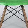 Cadmium Green 1950s Herman Miller Eames DSW Dowel Side Chairs in very good condition thumbnail