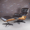 Brown 2017 Herman Miller Eames Eames Lounge Chair & Ottoman Lounge Seating in mint condition thumbnail