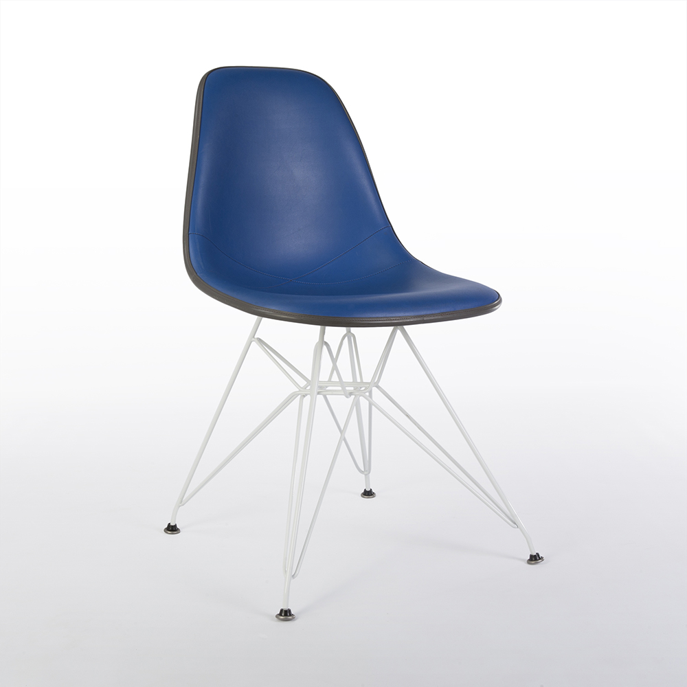 Blue 1970s Herman Miller Eames DSR Eiffel Side Chairs in very good condition