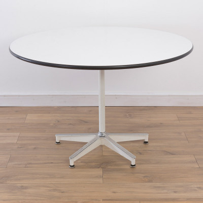 White based variant of the Model 650 Eames Dining Table