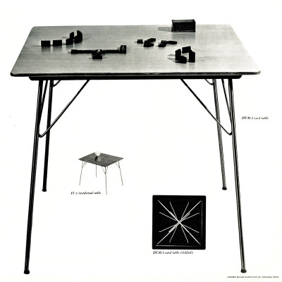 1955 Herman Miller illustrations and images of the DTM range