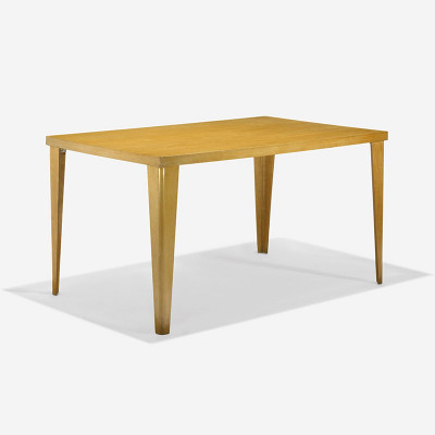 Ash veneer version of the Eames DTW-1 rectangular dining table