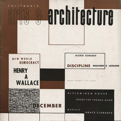 Arts & Architecture - Dec 1942 - Ray Eames Cover