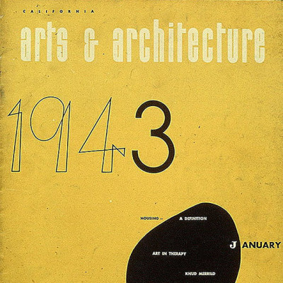 Arts & Architecture - Jan 1943 - Ray Eames Cover
