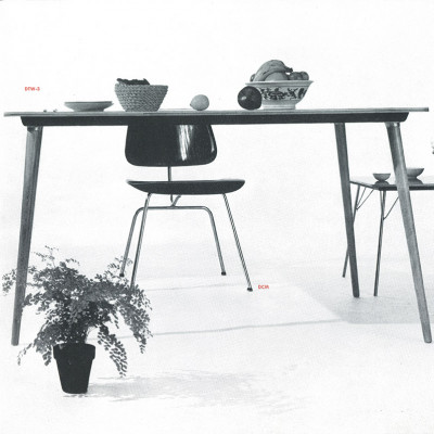 Vintage 1950's photograph of the Eames DTW by Herman Miller