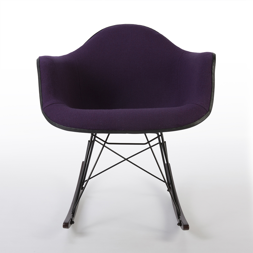 Purple 1960s Herman Miller Eames RAR Rocking Arm Chairs in very good condition