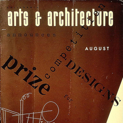 Arts & Architecture - Aug 1943 - Ray Eames Cover