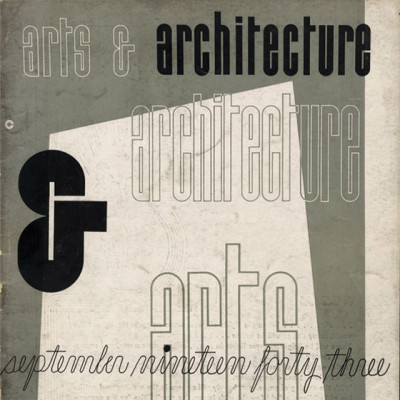 Arts & Architecture - Sept 1943 - Ray Eames Cover