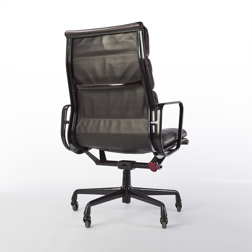 Purple 1990 Herman Miller Eames Soft Pad high Back Side Chair Office Chairs