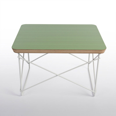 A special edition formica top in a patterned green by Herman Miller in 2012