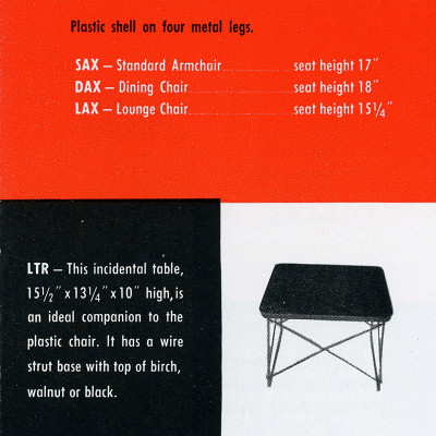 This was the first known advertisement of the LTR from a 1950 brochure leaflet