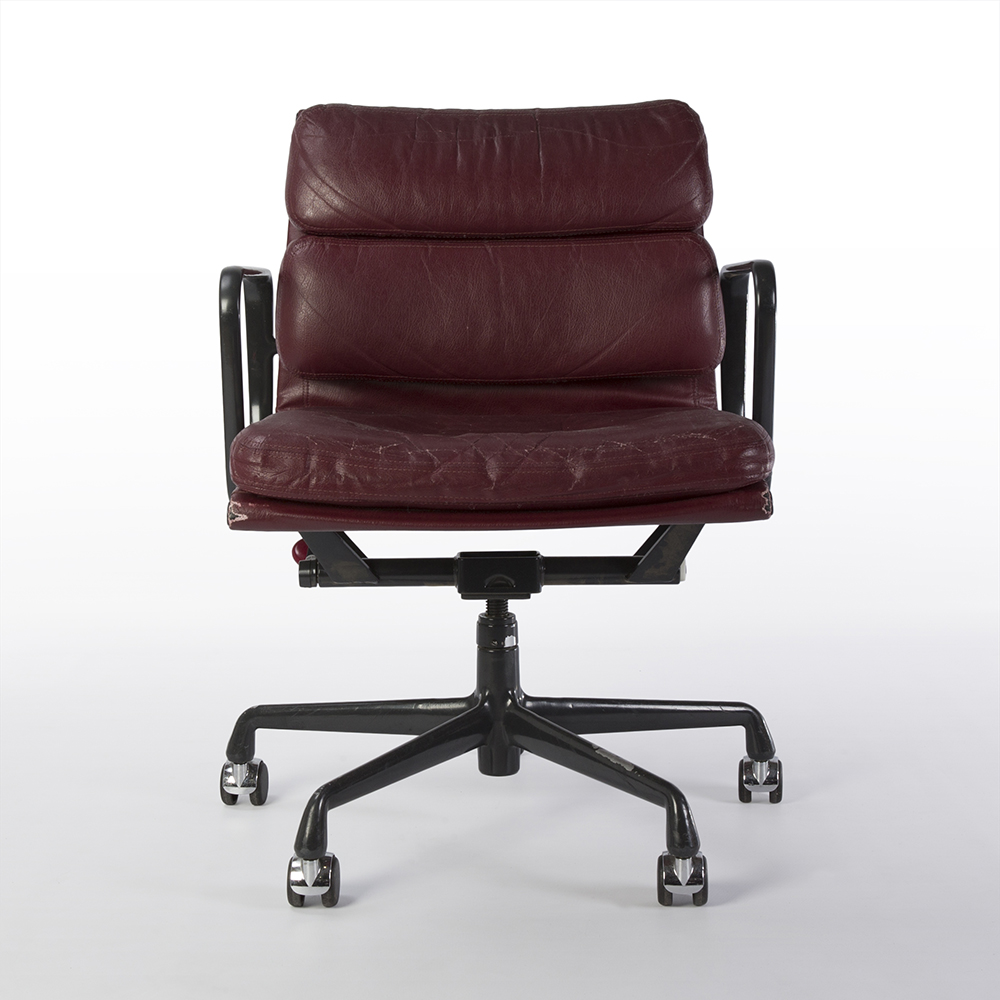 Red 1998 Herman Miller Eames Soft Pad low Back Side Chair Office Chairs