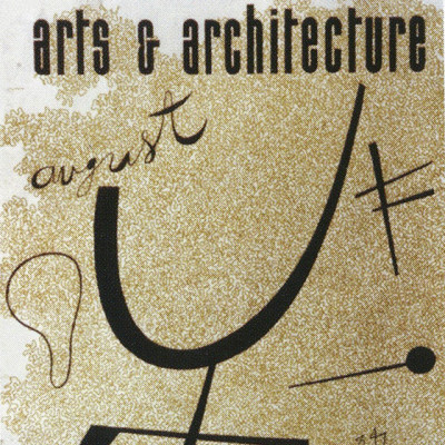 Arts & Architecture - Aug 1944 - Ray Eames Cover