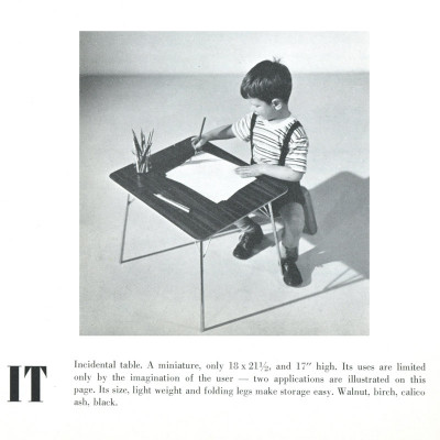 This 1948 Herman Miller catalog image depicts the table for use by children
