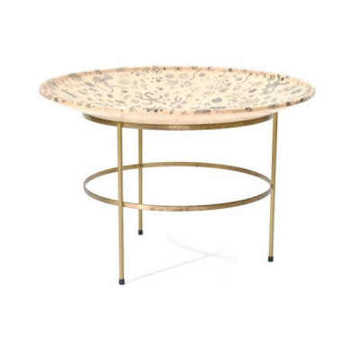 The design of the base frame is a lightweight brass with three legs and a circular strengthener