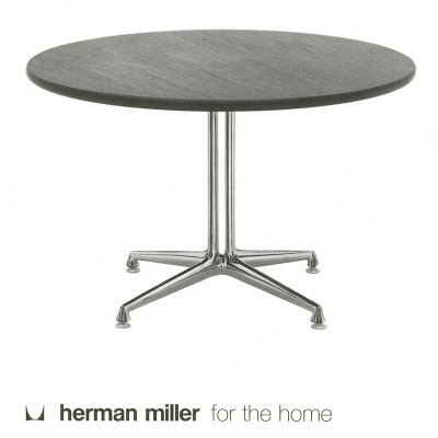A 1995 Herman Miller catalog page featuring the natural stone La Fonda side tables