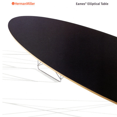 A 2005 Herman Miller catalog page of the Eames ETR coffee table