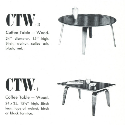 This 1948 Catalog image shows the Evans produced 1st generation of the table called the CTW-1
