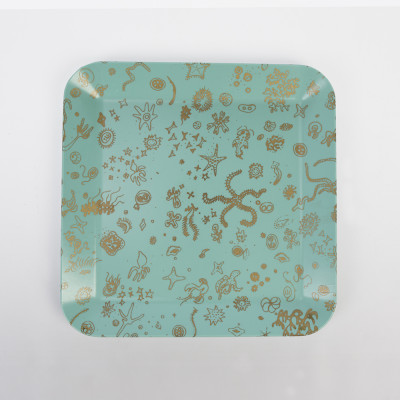Waverly Products Eames Seathings Tray Square Blue & Gold (1954)