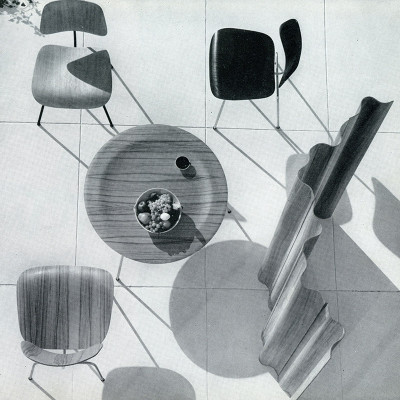 1949 Herman Miller catalog photograph depicting the Eames CTM center
