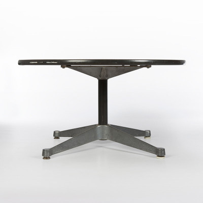"Profile view of the Eames Contract base coffee table with small 30"" top"