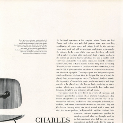 First page of article on Charles and Ray Eames - Portfolio 1950