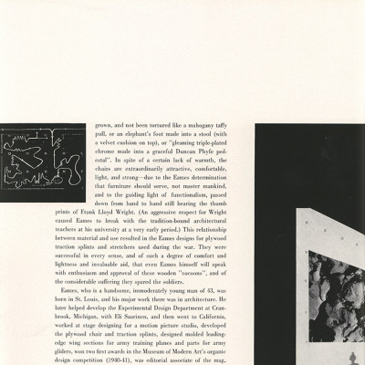 Page 5 of article on Charles and Ray Eames - Portfolio 1950