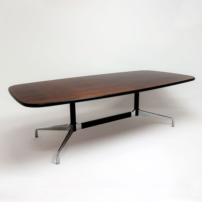 Large Oval (or boat) shaped conference work Eames Segmented Table, in a Rosewood finish