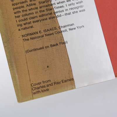 The inside cover has the devotion message from Charles and Ray Eames on the bottom corner