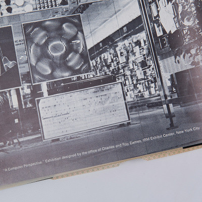 The book details imagery from the hugely successful IBM exhibition the Eames Office created in 1971