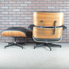 Black 2016 Herman Miller Eames Eames Lounge Chair & Ottoman Lounge Seating in mint condition thumbnail