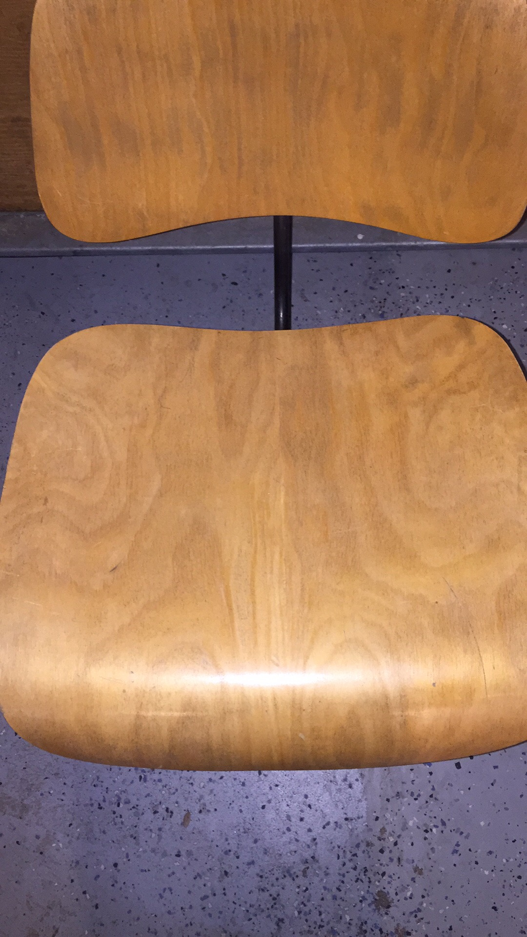 Wooden 1950s Herman Miller Eames DCM - Ply Dining Chair Metal Chairs in excellent condition