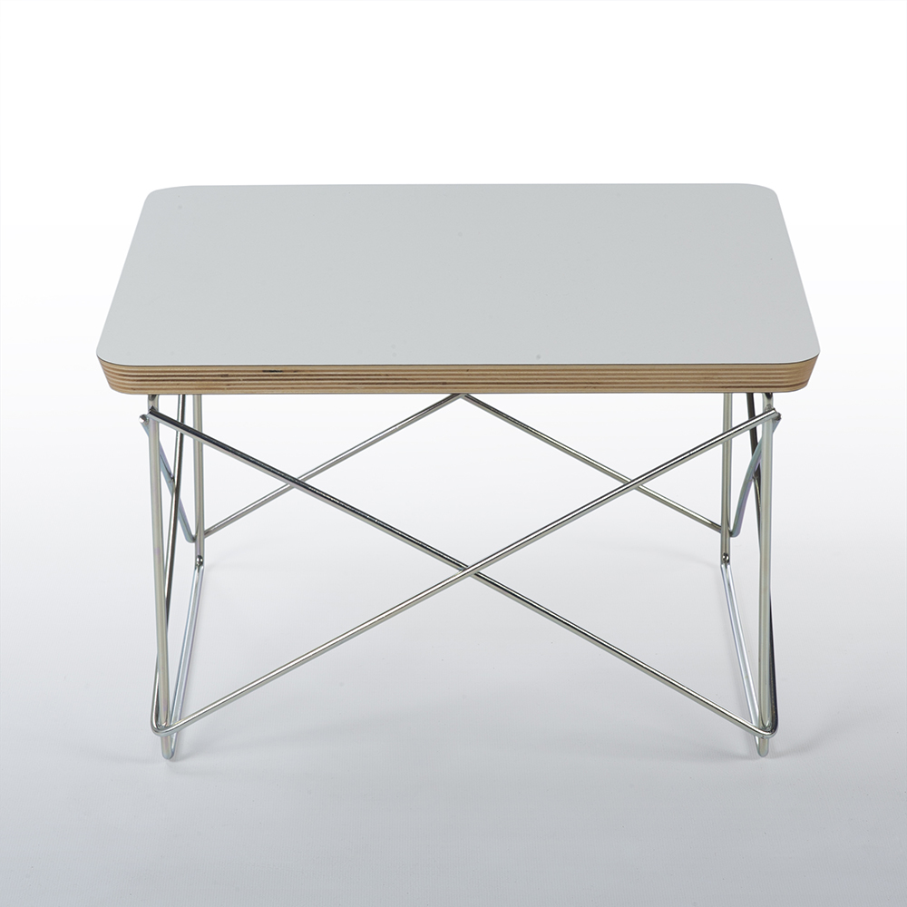 White 2000s Herman Miller Eames LTR Side Table Side Tables in very good condition